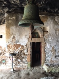 Bell still hangs at abandoned monastery.