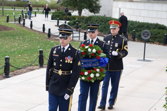 Laying of a wreath.